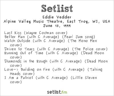 Eddie Vedder Setlist Tibetan Freedom Concert 1999 1999