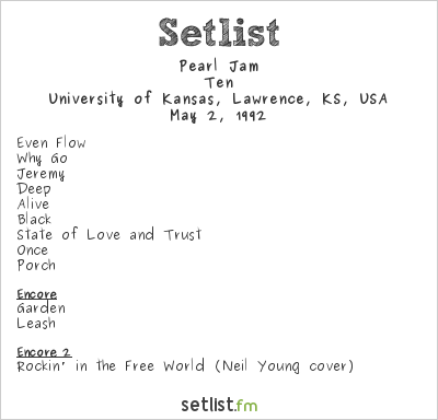 Pearl Jam Setlist Day on the Hill 1992 1992, Ten