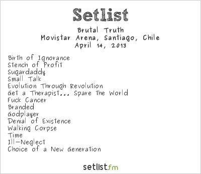 Brutal Truth Setlist Metal Fest 2013 2013