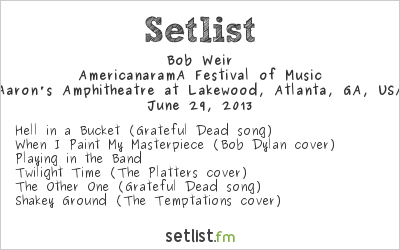 Bob Weir Setlist 