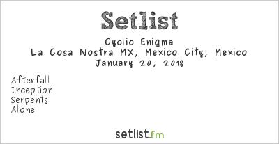 Cyclic Enigma Setlist Perri Metal Fest 2018 2018