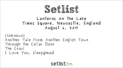 Lanterns on the Lake Setlist Live from Times Square 2017 2017