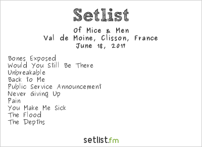 Of Mice & Men Setlist Hellfest 2017 2017