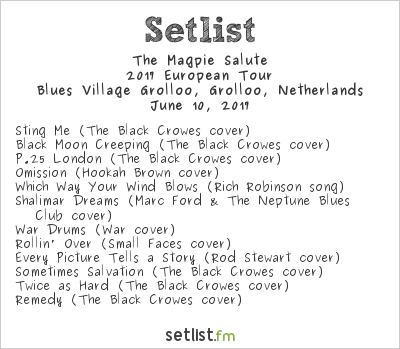 The Magpie Salute Setlist Holland International Blues Festival 2017 2017