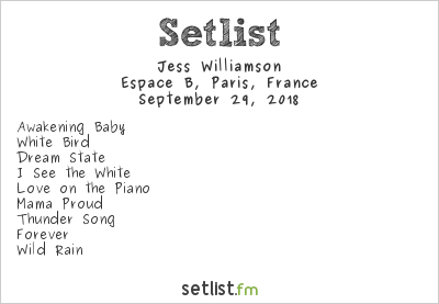 Jess Williamson Setlist Espace B, Paris, France 2018