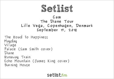 Cam Setlist Lille Vega, Copenhagen, Denmark 2018, The Diane Tour
