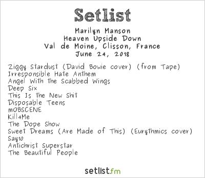 Marilyn Manson Setlist Hellfest 2018 2018, Heaven Upside Down