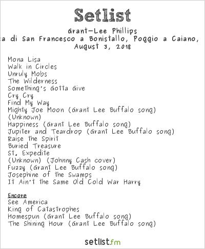 Grant‐Lee Phillips Setlist Chiesa di San Francesco a Bonistallo, Poggio a Caiano, Italy 2018