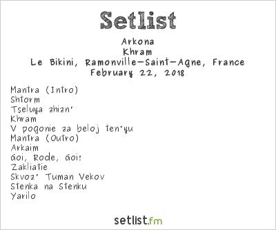 Arkona Setlist Le Bikini, Ramonville-Saint-Agne, France 2018, Khram