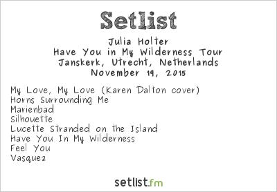 Julia Holter Setlist Le Guess Who? 2015 2015
