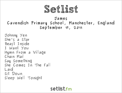 James Setlist Cavfest 2011 2011