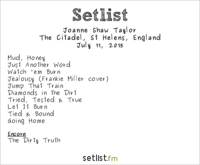 Joanne Shaw Taylor Setlist The Citadel, St Helens, England 2015