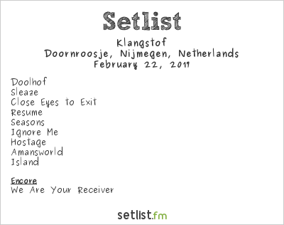 Klangstof Setlist Doornroosje, Nijmegen, Netherlands 2017