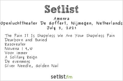 Amenra Setlist Openluchttheater De Goffert, Nijmegen, Netherlands 2021