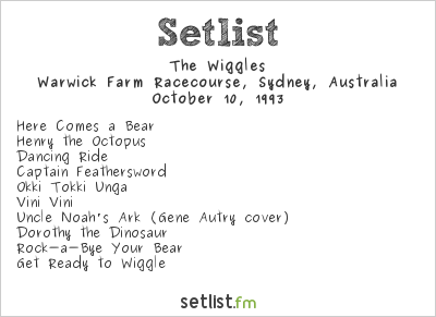 The Wiggles Setlist World's Biggest BBQ 1993 1993