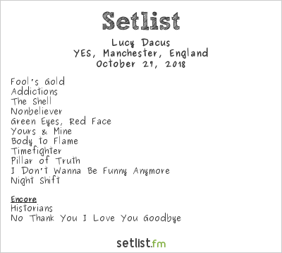 Lucy Dacus Setlist YES, Manchester, England 2018