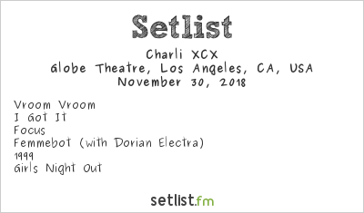 Charli XCX Setlist The Billy Ball 2018 2018