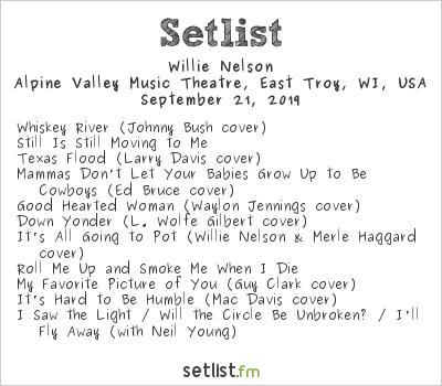 Willie Nelson Setlist Farm Aid 2019 2019