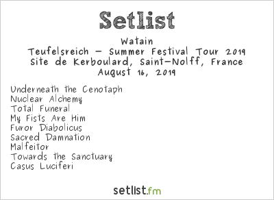 Watain Setlist Motocultor Festival 2019, Teufelsreich - Summer Festival Tour 2019
