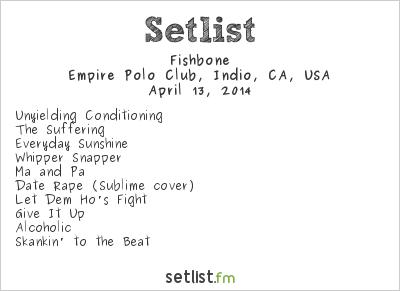 Fishbone Setlist Coachella Festival 2014 2014