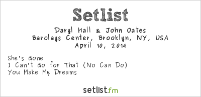 Hall & Oates Setlist Rock and Roll Hall of Fame Induction Ceremony #29 2014