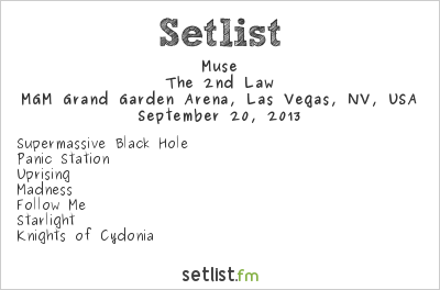 Muse Setlist iHeartRadio Music Festival 2013 2013, The 2nd Law