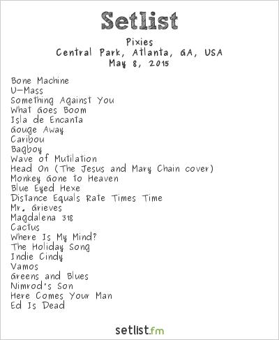 Pixies at Shaky Knees Music Festival 2015 Setlist