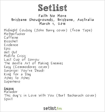 Faith No More Setlist Soundwave Brisbane 2015 2015