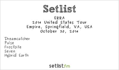 Erra Tour Setlist