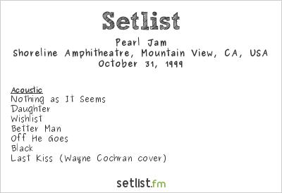 Pearl Jam Setlist Bridge School Benefit 1999 1999