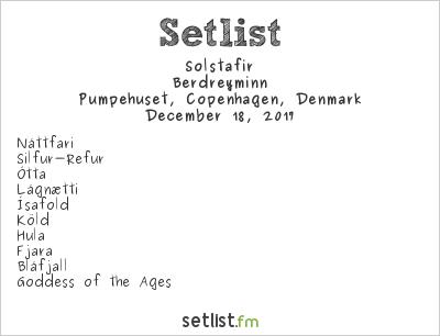 Sólstafir Setlist Pumpehuset, Copenhagen, Denmark 2017, Berdreyminn