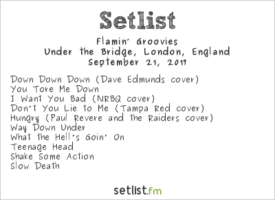 Flamin' Groovies Setlist Under the Bridge, London, England 2017