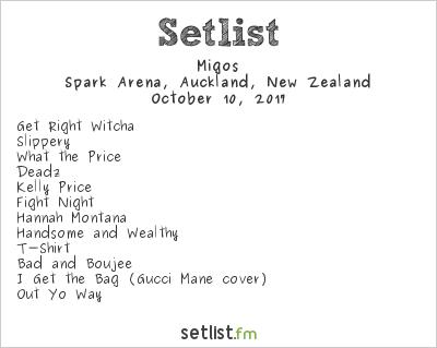 Migos Setlist Spark Arena, Auckland, New Zealand 2017