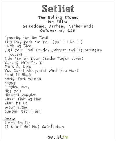 The Rolling Stones at Gelredome, Arnhem, Netherlands Setlist