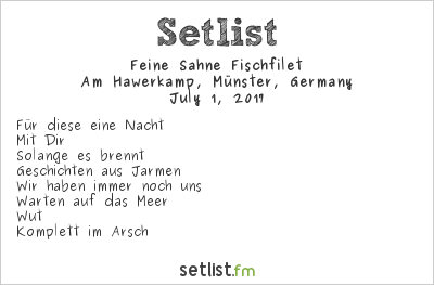 Feine Sahne Fischfilet Setlist Vainstream Rockfest 2017 2017