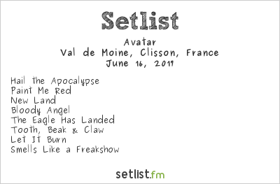 Avatar Setlist Hellfest 2017 2017