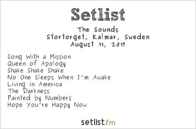 The Sounds Setlist Stortorget, Kalmar, Sweden 2017