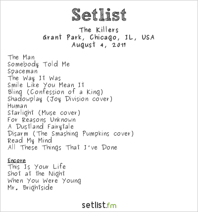 The Killers Setlist Lollapalooza 2017 2017