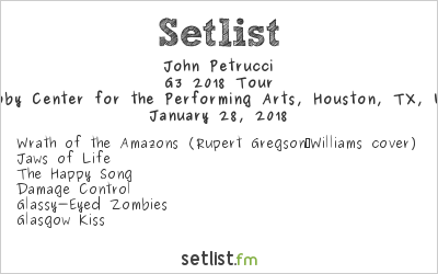 John Petrucci Setlist Hobby Center for the Performing Arts, Houston, TX, USA 2018, G3 2018 Tour