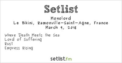 Monolord Setlist Le Bikini, Ramonville-Saint-Agne, France 2018
