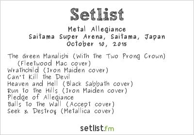 Metal Allegiance Setlist Loud Park 2015 2015