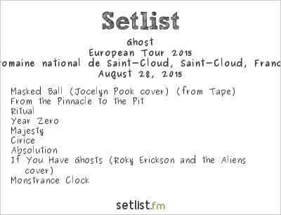 Ghost Setlist Rock en Seine 2015 2015