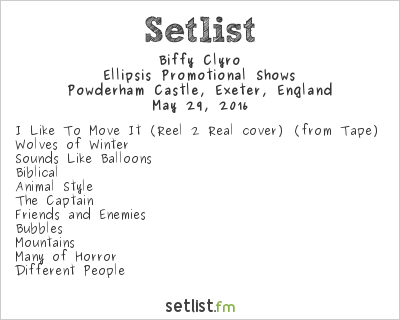 Biffy Clyro Setlist Radio 1's Big Weekend 2016 2016, Ellipsis Promotional Shows