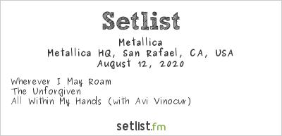 Metallica Setlist HQ, San Rafael, CA, USA 2020
