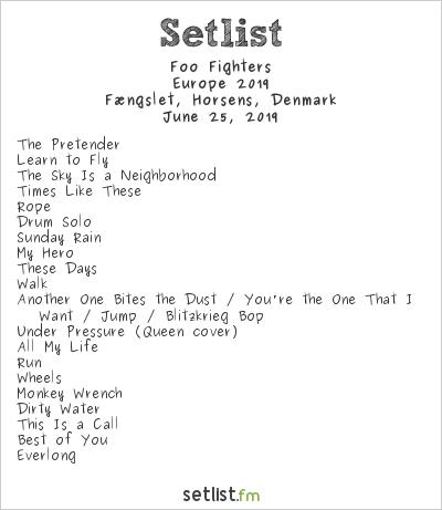Foo Fighters Setlist Fængslet, Horsens, Denmark, Europe 2019