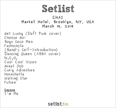 CHAI Setlist Market Hotel, Brooklyn, NY, USA 2019
