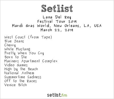 Lana Del Rey Setlist BUKU 2019 2019