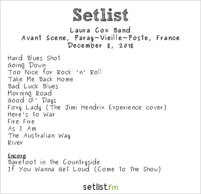Laura Cox Band Setlist Avant Scene, Paray-Vieille-Poste, France 2018