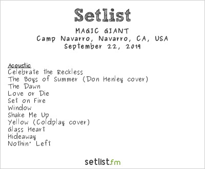 Magic Giant at Camp Deep End 2019 Setlist