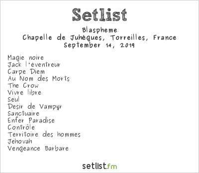 Blaspheme Setlist Pyrenean Warriors Open Air 2019 2019